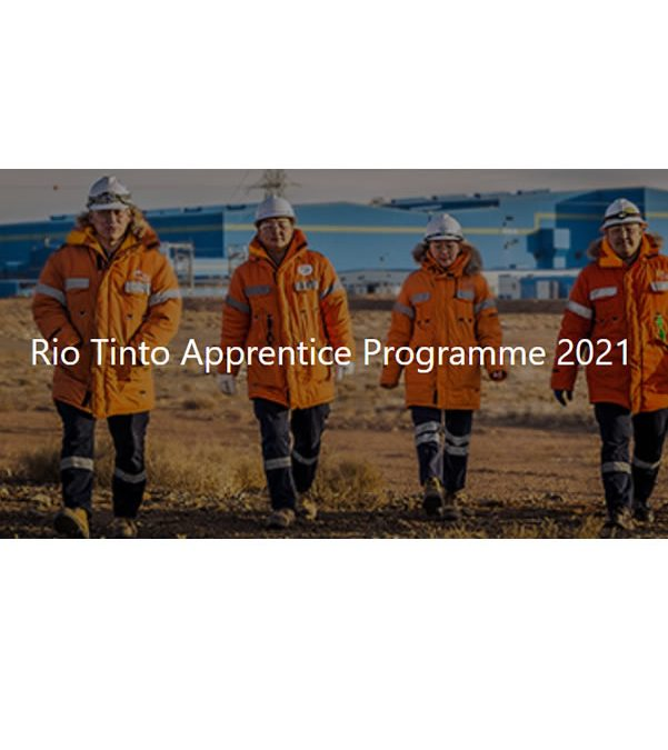 Rio Tinto Iron Ore – 2021 Apprenticeship Program