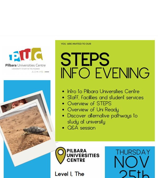 Pilbara University Centre (PUC) – Information Evening